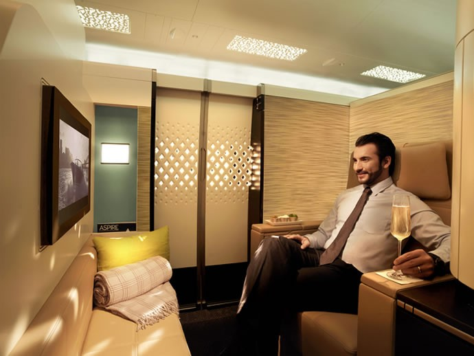 Personal mini bars on Etihad Airways