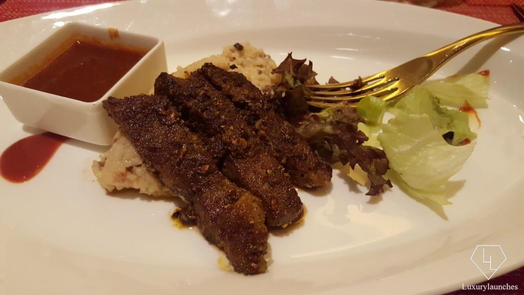 Wagyu beef with wild mushroom khichdi