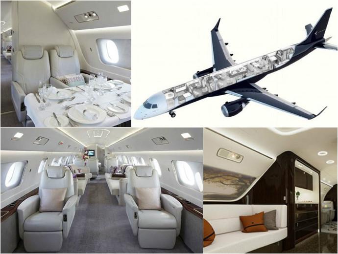 take a peak inside the 52 million embraer lineage 1000e
