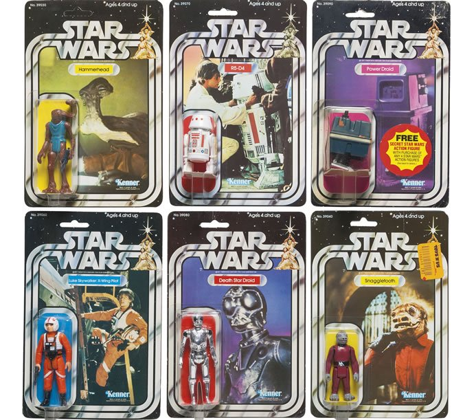 SIX STAR WARS '21-BACK' ACTION FIGURES, 1979