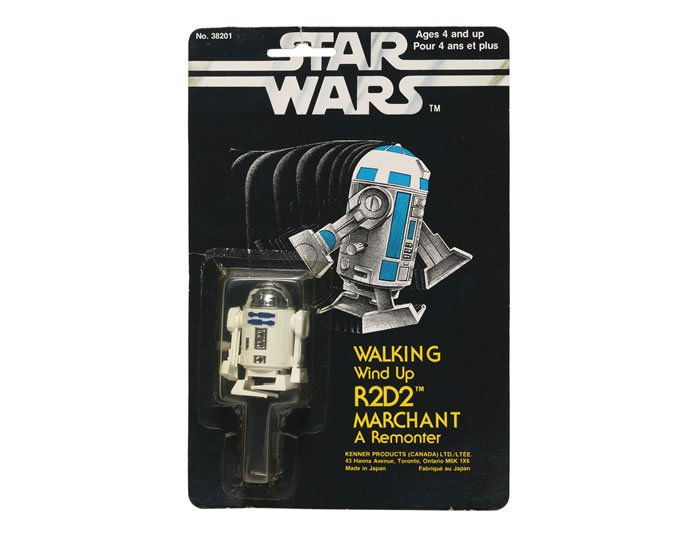 STAR WARS 'WALKING WIND-UP' R2-D2 ACTION FIGURE, 1978