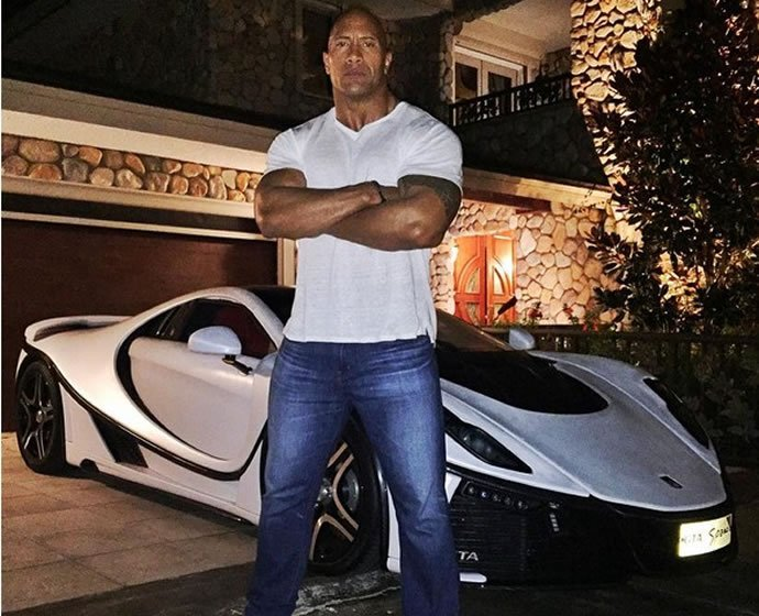 Dwayne Johnson Cars