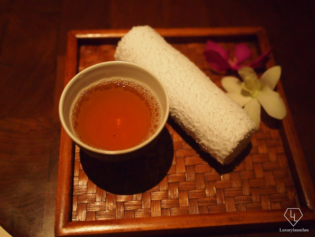 Spa Welcome Tea and Towel