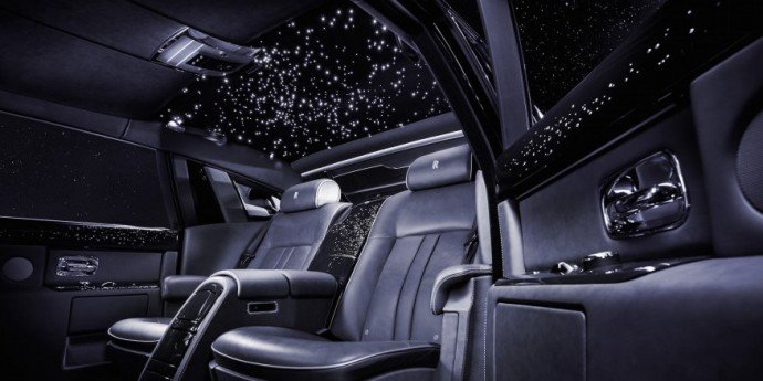 A starry sky for the Rolls Royce Wraith