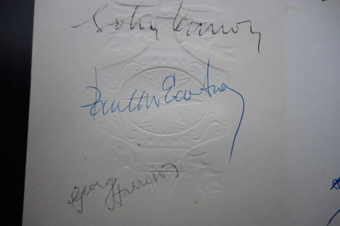 At $2500 and signed by the Beatles, this is the most ...