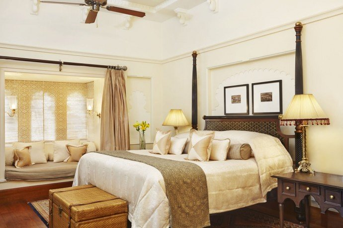 Bedroom -  Kohinoor Suite with Private Swimming Pool - The Oberoi Udaivilas, Udaipur