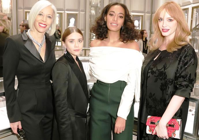 Linda Fargo, Ashley Olsen, Solange Knowles and Christina Hendricks
