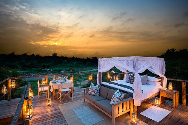 Lion Sands Reserve South Africa Who Needs A Safari When You Can View Lions And Elephants From Your Own Luxury Treehouse This Stunning Outdoor Room Is