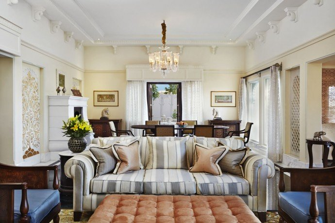 Living and Dining area of the Kohinoor Suite with Private Swimming Pool - The Oberoi Udaivilas, Udaipur