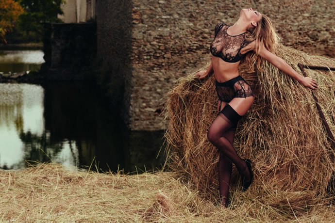 Bar Rafaeli has a romp in the hay in the new Agent Provocateur campaign : Luxurylaunches