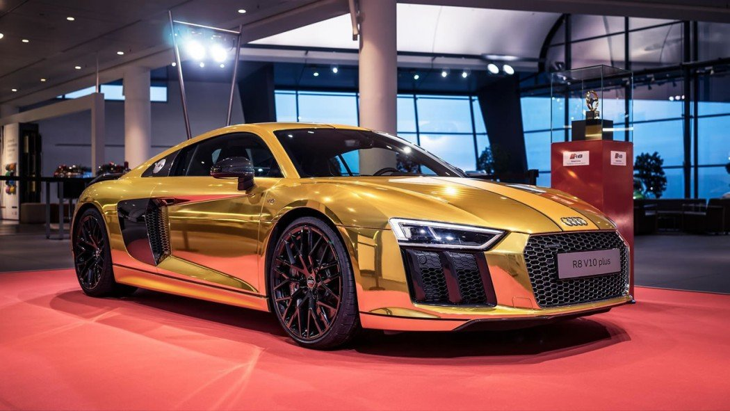 Fit For An Oligarch The Audi R8 V10 Plus Wred In Gold