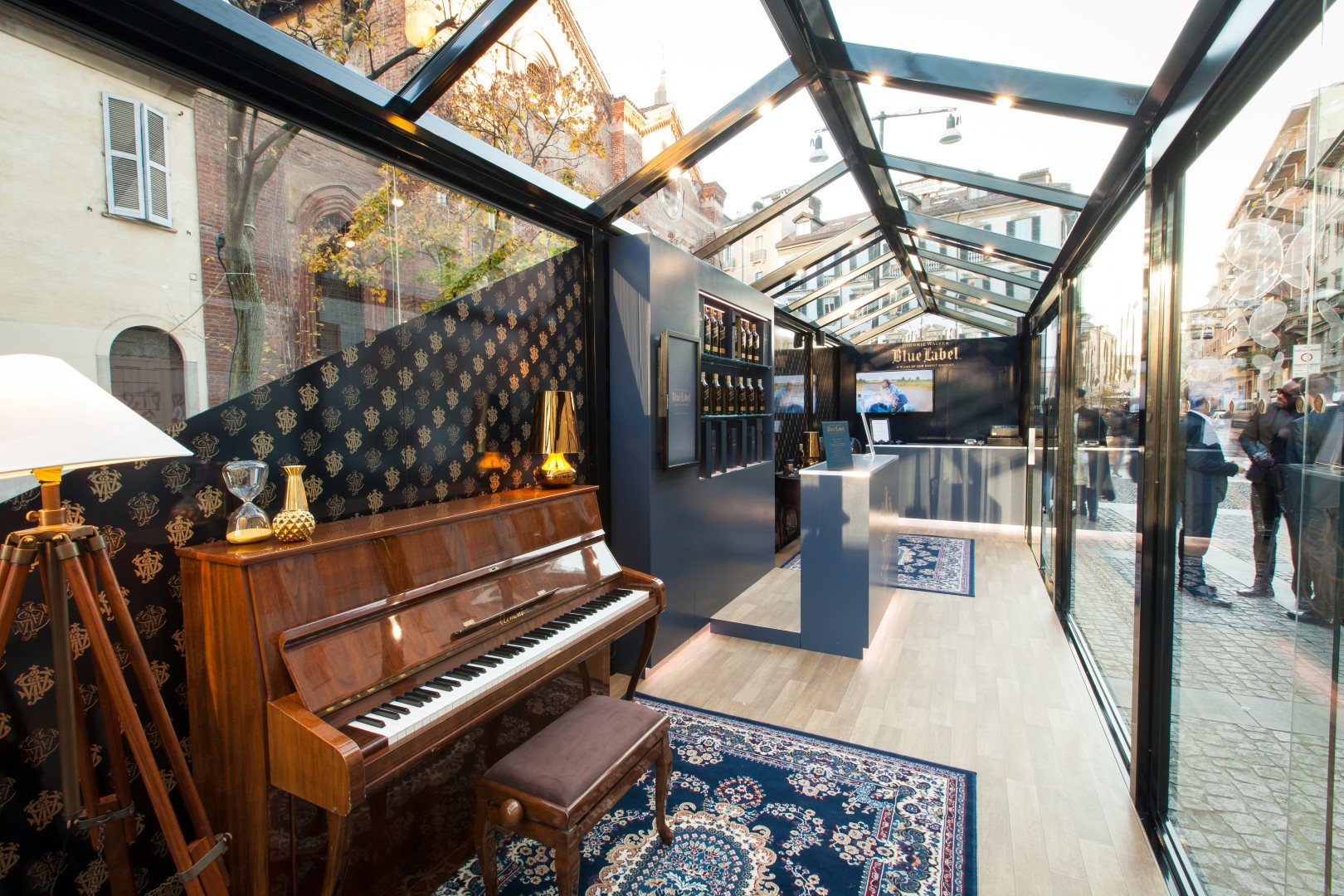 Check out Johnnie Walker Blue Label's Milan pop up store