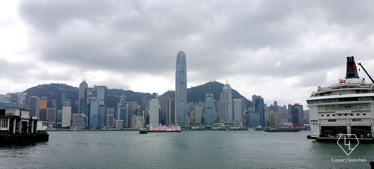 Hong Kong's iconic skyline as seen from the Ferry terminal. Attached to the mall it offers the best view of the Central side of the city.
