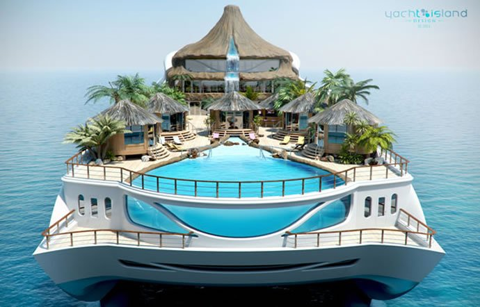 Luxury Swimming Pools With Waterfalls 5 super yachts with waterfalls in them -