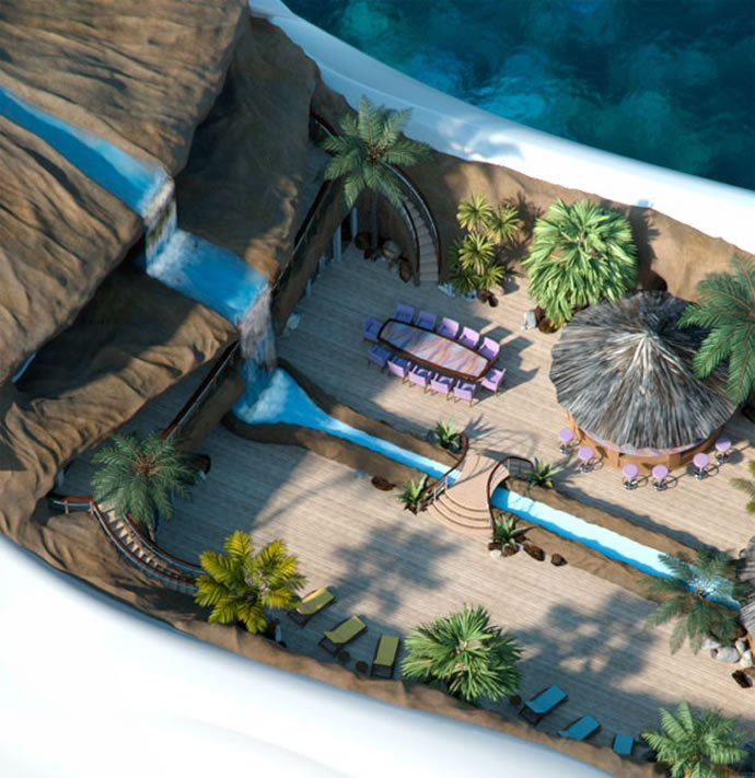 Tropical Island Paradise: 5 Super Yachts With Waterfalls In Them
