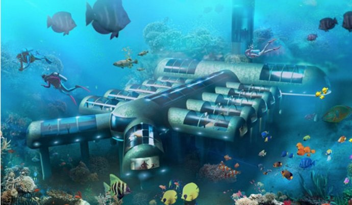 Patent An Idea >> Own your own underwater space with Planet Ocean Underwater Hotel at $3mn