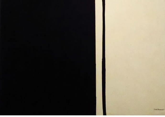 1 Black Fire 1 by Barnett Newman