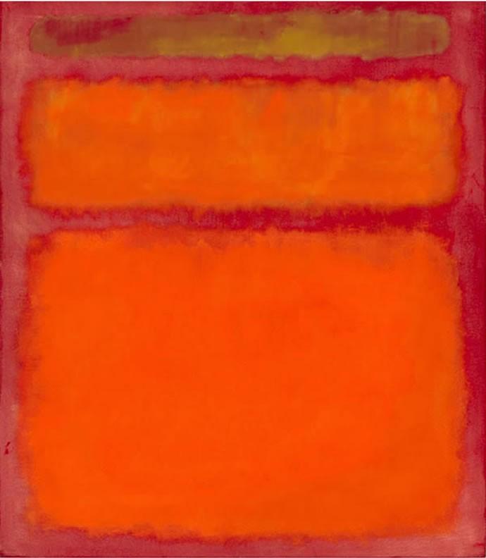 2 Orange, Red, Yellow by Mark Rothko
