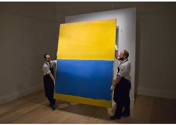 3 Untitled (Yellow and Blue) by Mark Ruthko