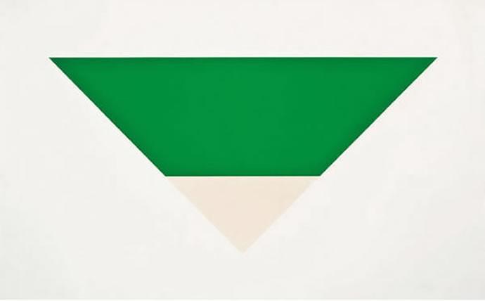 7 Green White by Ellsworth Kelly