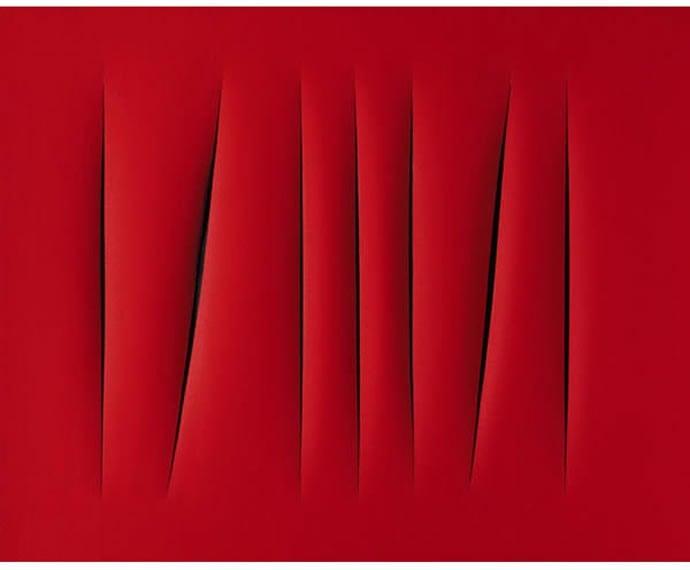 8 Concetto spaziale , Attesse by Lucio Fontana