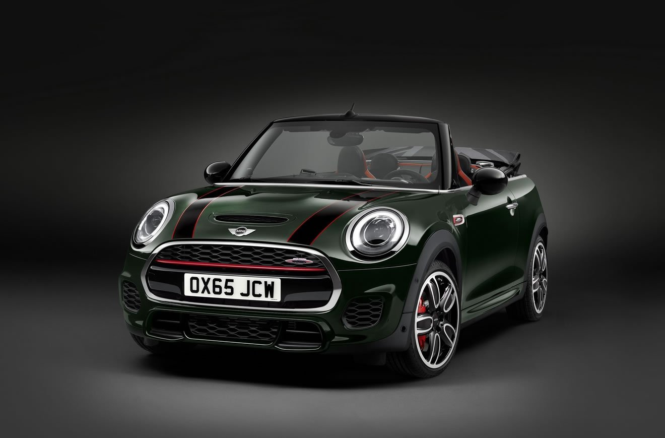 the new mini john cooper works convertible sports the most powerful mini engine yet. Black Bedroom Furniture Sets. Home Design Ideas