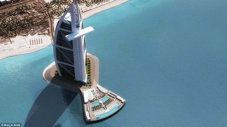 The burj al arab is all set to expand with a new ocean for Pool design dubai
