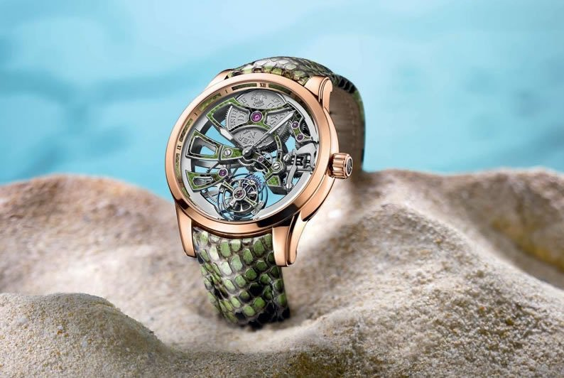 Ulysse Nardin unveils the limited edition Skeleton watch with a special python leather strap -