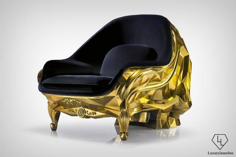 This $500k 24 carat gold Skull Armchair is perfect for Donald Trump : Luxurylaunches
