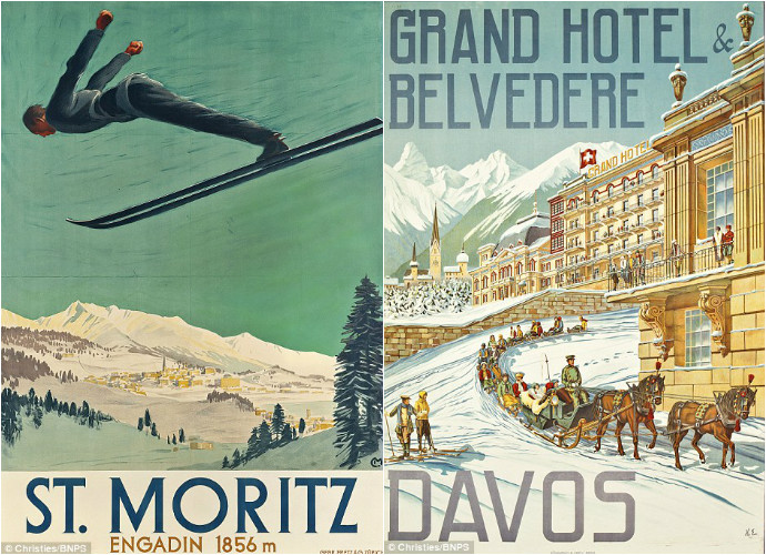 A collection of 197 vintage holiday posters may fetch £1million! -