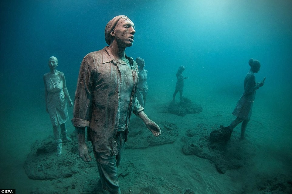 Located among the canary islands europe s first underwater for Spain underwater museum