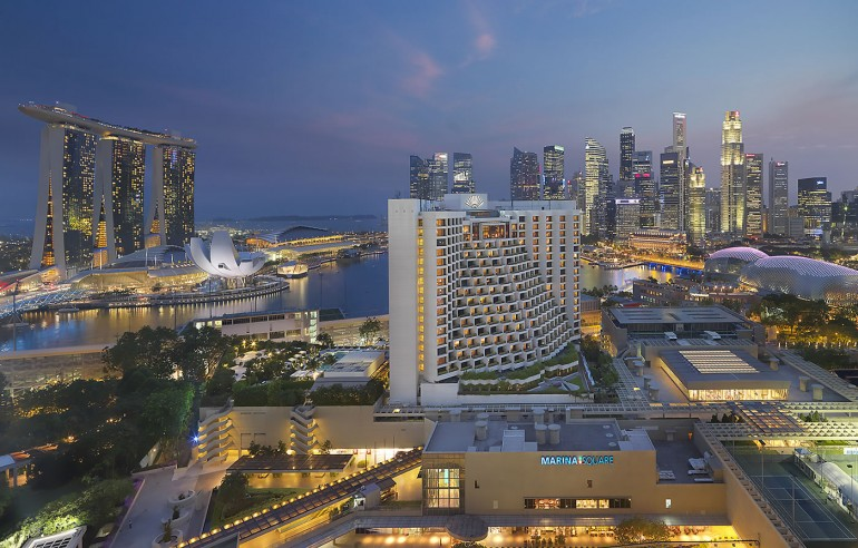 A bird's eye view of the Mandarin Oriental Singapore