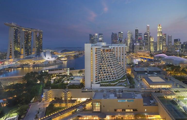 A bird's eye view of the Mandarin Oriental Singapore
