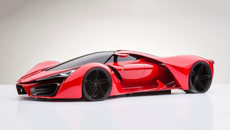 Ferrari F Concept X C on Car Engine Animation