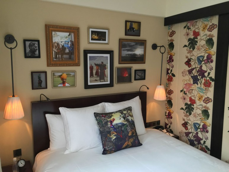 The rooms have photographs from the Mr Satinder's personal collection.