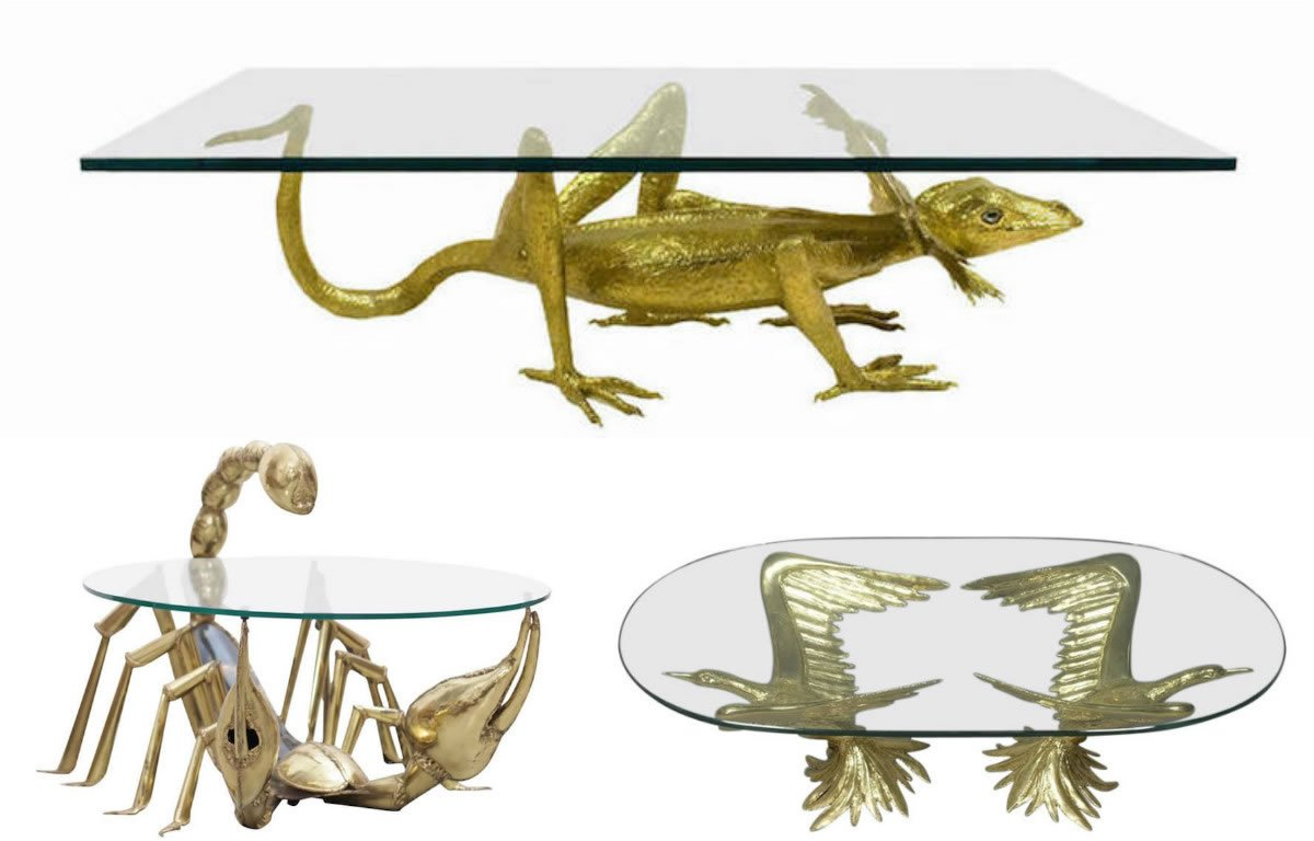 fancy a larger than life creepy crawly coffee table for your living