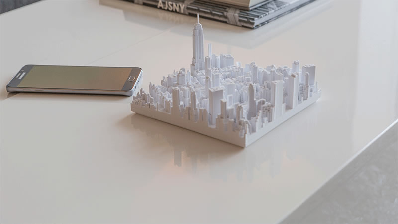 A design firm is selling a 3D printed realistic model of Manhattan