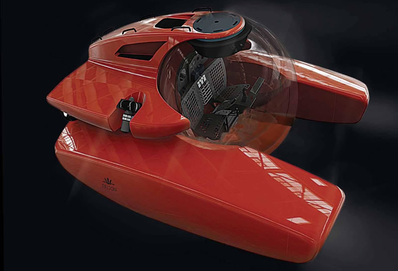 This radical two person personal submarine lets you dive deeper and faster : Luxurylaunches