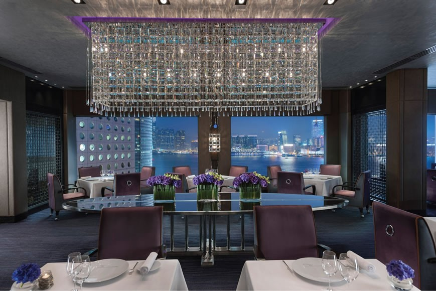 The three Michelin-starred Pierre restaurant offers French cuisine and the best view from anywhere in the hotel