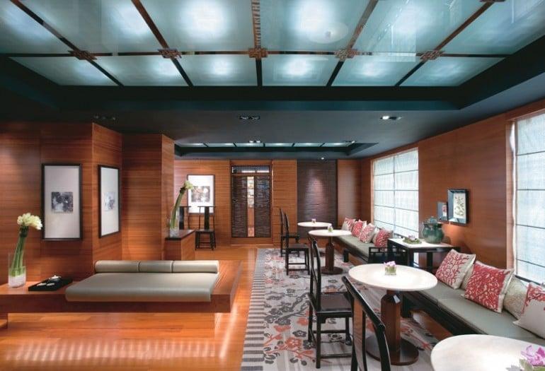 The Mandarin Spa reception area