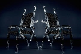 A Stunning Designer Chair Made From Real AK 47 Rifles