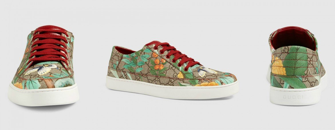 de44a023989a Spring calls for 18th century Tian print shoes by Gucci -