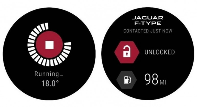 Jaguar Land Rover Android Wear app