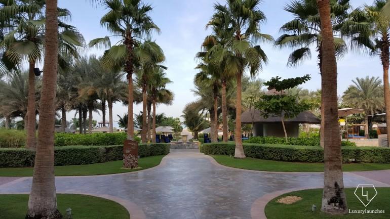 Lush gardens.