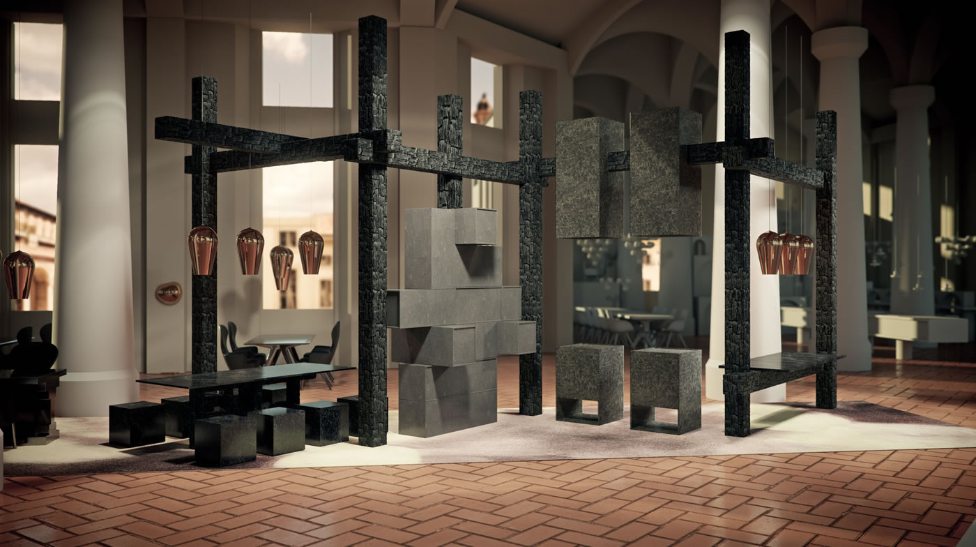 The restaurant by caesarstone tom dixon come alive with