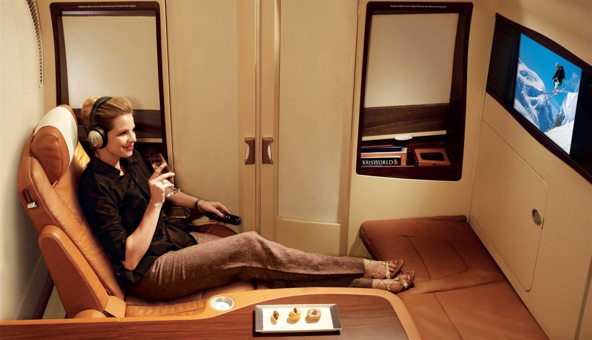 First Class Suite for one on Singapore Airlines