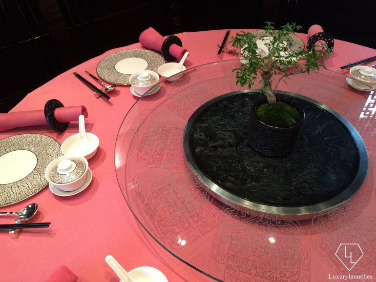 Table setting - bonsai plant included
