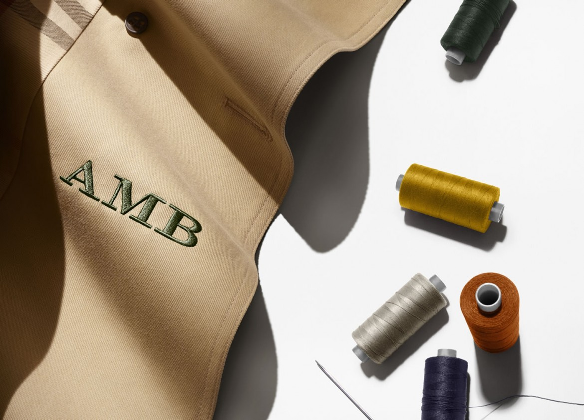 burberry u2019s monogramming service will ensure your trench coat has your personal touch