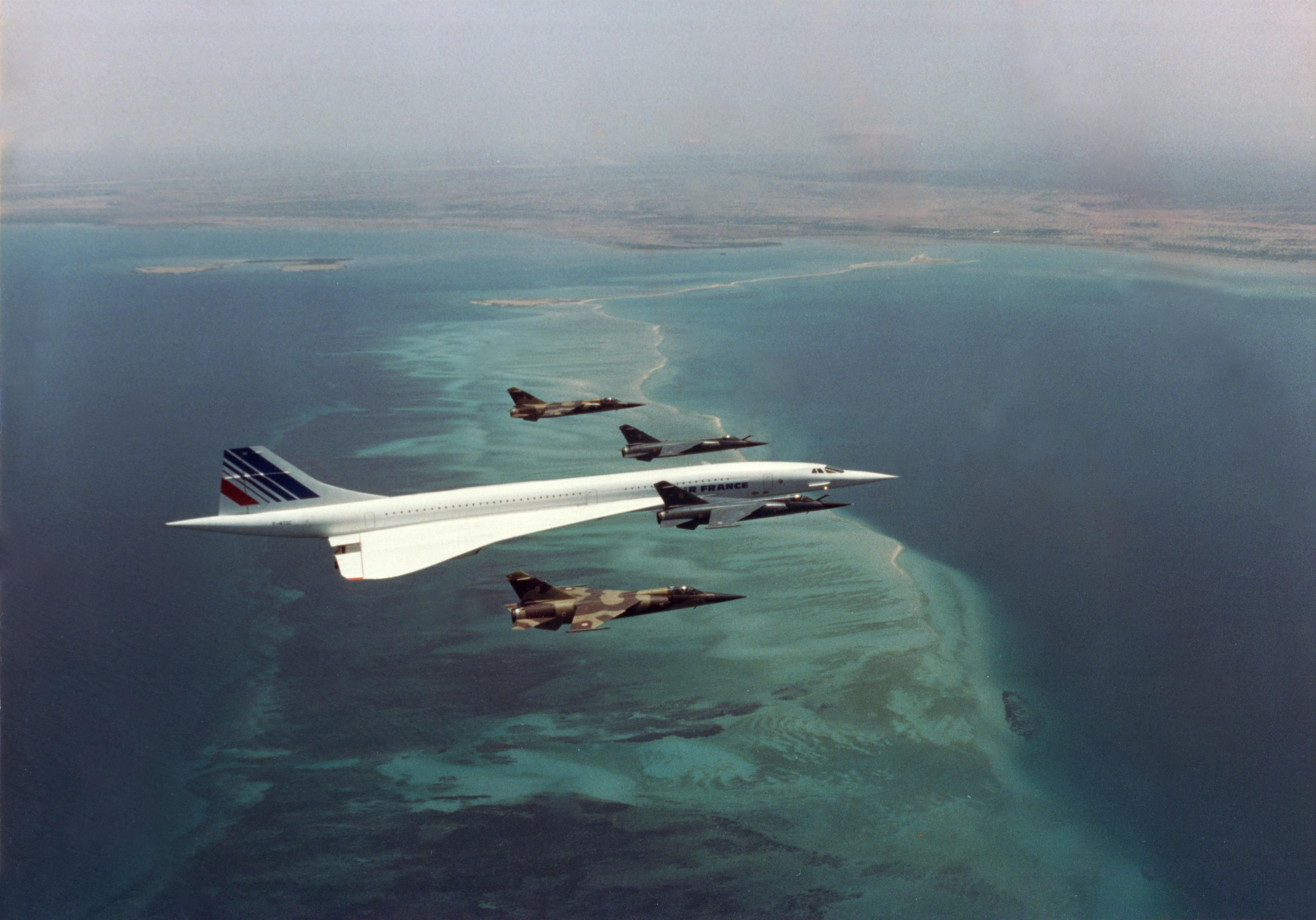 A Gorgeous And Rare Pic Of A Concorde Being Escorted By