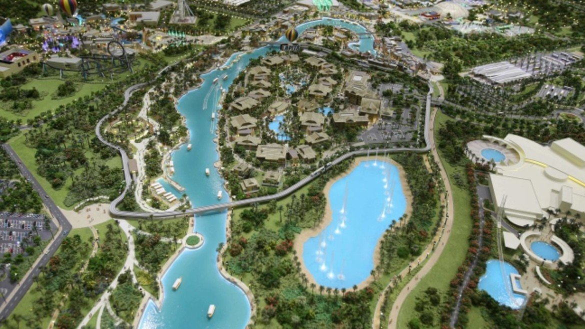 Check out the plans for dubai 39 s 2 8 billion mega theme park for New hotels in dubai 2016
